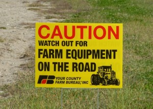 Caution Farm Equipment