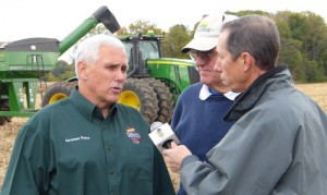 Governor Mike Pence and Tom Mylet