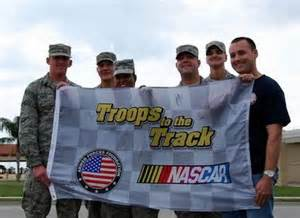 troops to the track